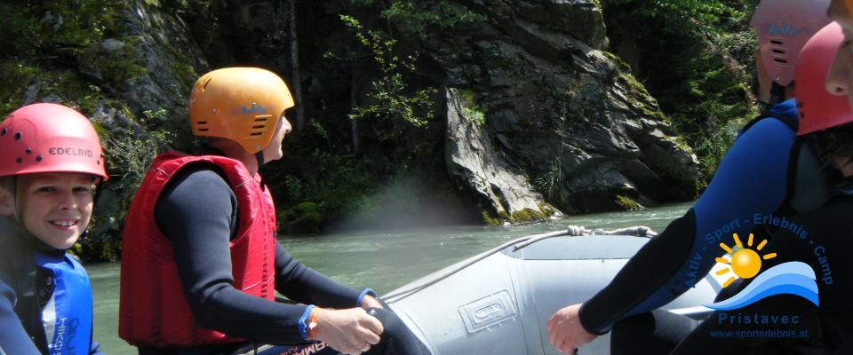 Rafting auf der Möll