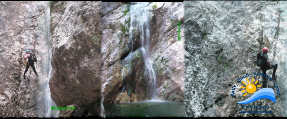Canyoning in Torrente Favarinis, Rio Frondizzon