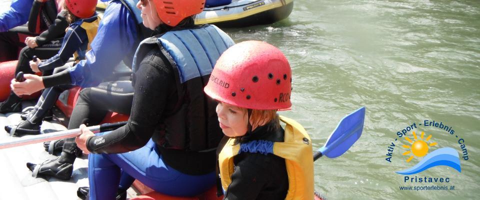 Rafting in Kärnten, auch für Kinder