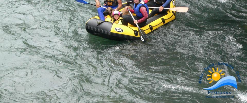 Rafting in Kärnten ein Spaß für alle Familienmitglieder