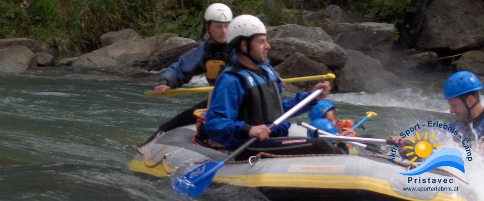 Rafting auf der Isel in Osttirol