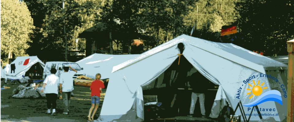 Jugendcamp mit Zelten