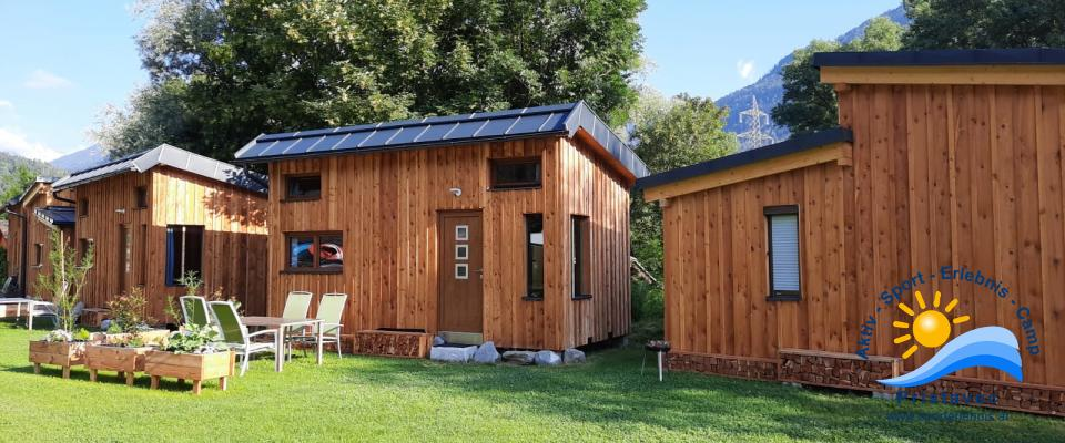 Tiny Häuser mit angrenzender Sauna